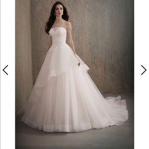 Adrianna Papell Blush Wedding Gown